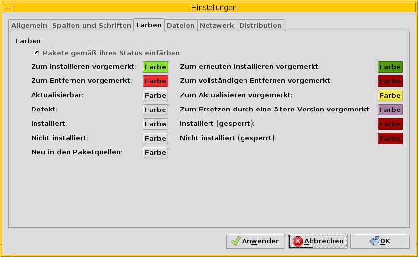 6.4. GUI zur Paketverwaltung